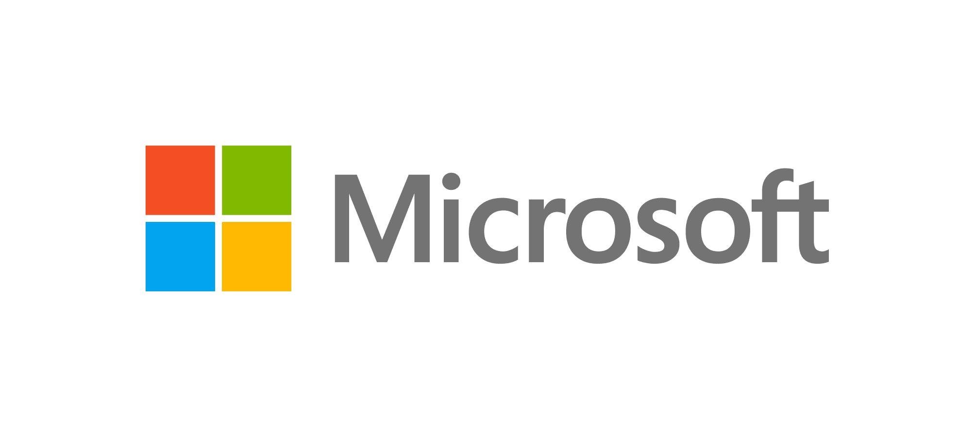 Logo Microsoft gris