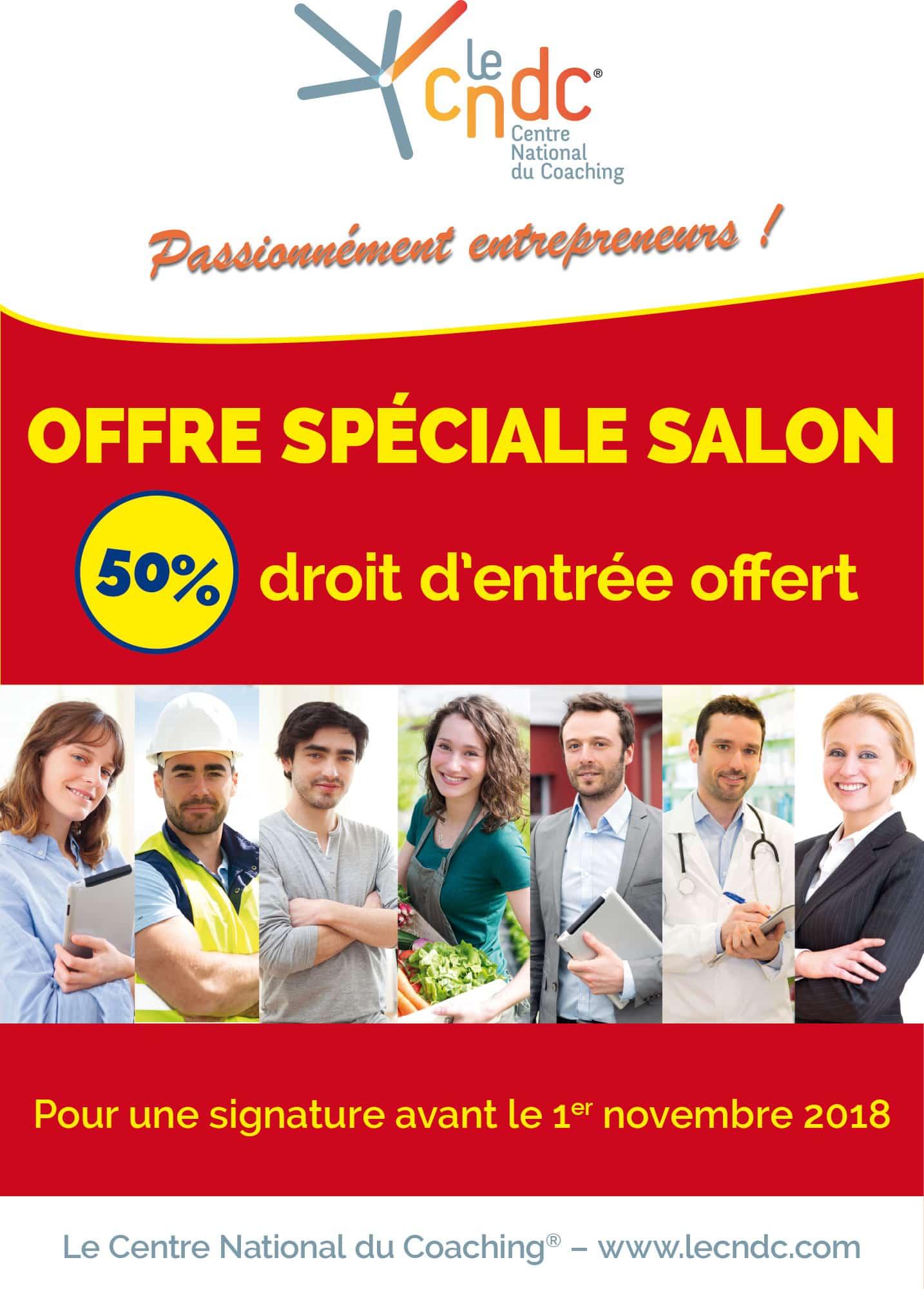 Poster Offre Salon Le Centre National du Coaching