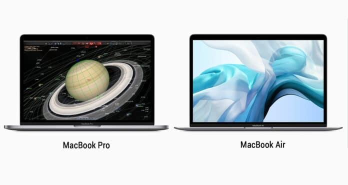 Apple macbook air et macbook pro update
