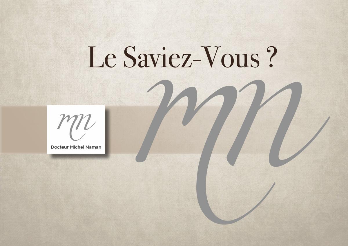 Le Saviez-Vous Docteur Michel Naman 1ère de couverture