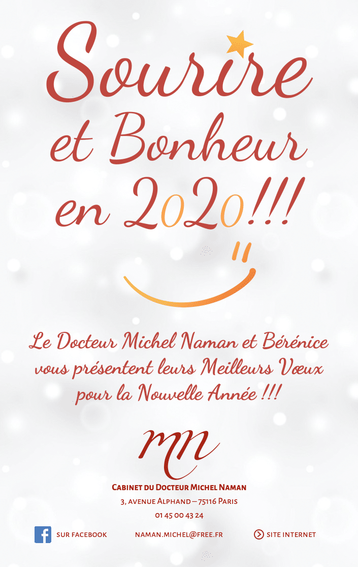 Sourire et Bonheur Docteur Michel Naman Voeux 2020