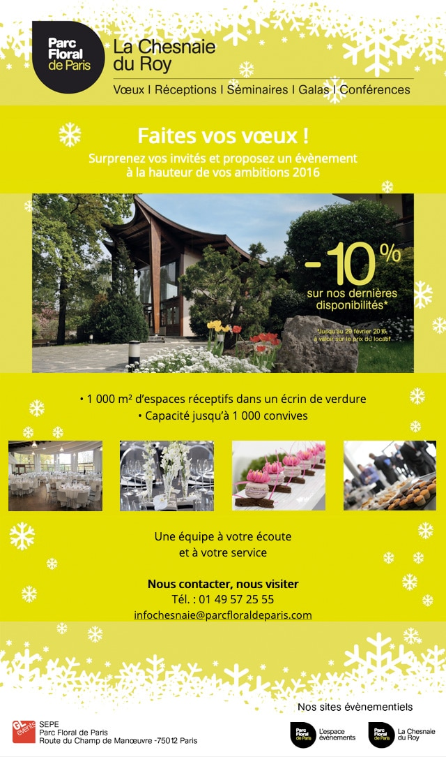 Newsletter Parc Floral de Paris
