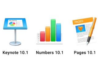 Keynote 10.1 Numbers 10.1 Pages 10.1