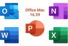 Office mac 16.39 Build 20071300