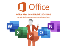 Office Mac 16.48 avec Presenter Coach dans Microsoft PowerPoint